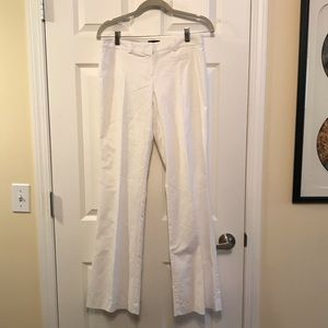 Jacob white fitted boot cut pants